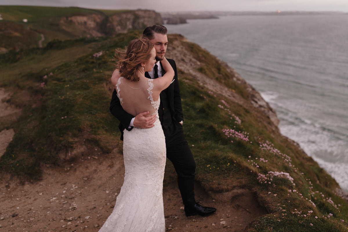 Watergate Bay Wedding couple