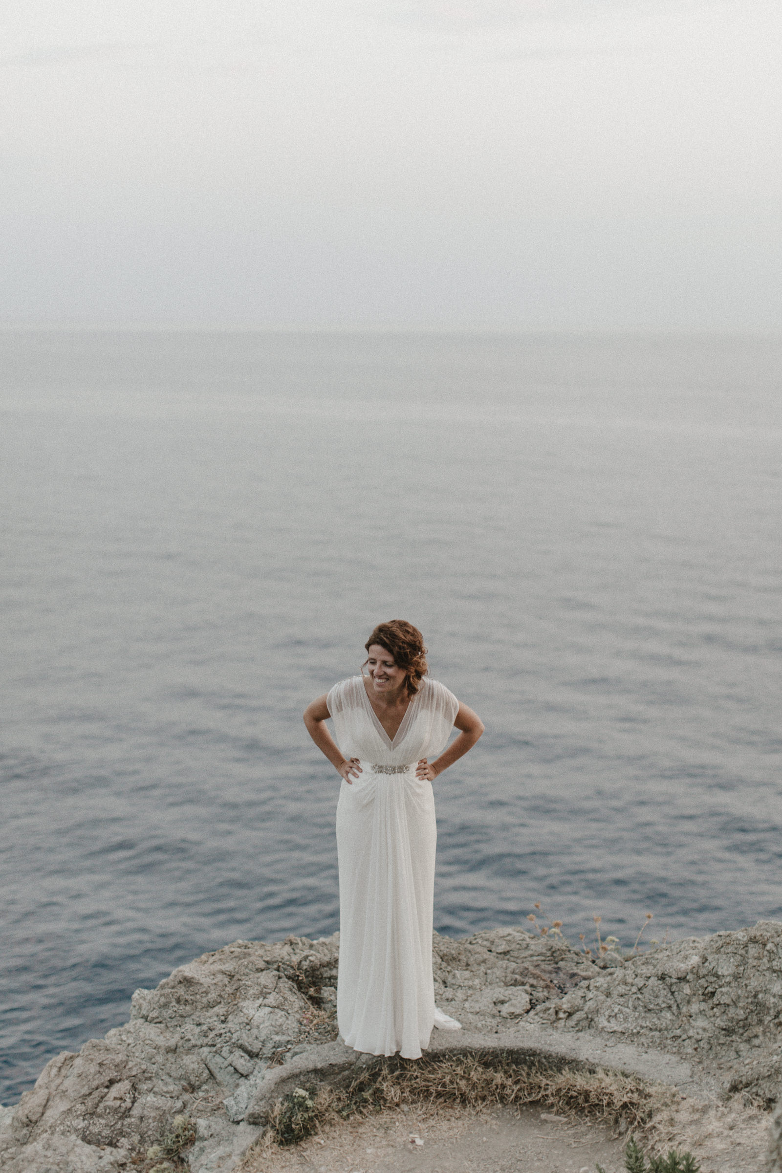Bride in the Cinque Terre with Jenny Packam Dress