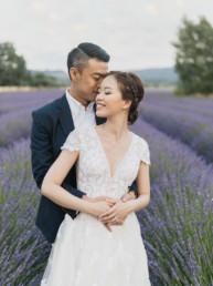 valensole lavender engagement photos