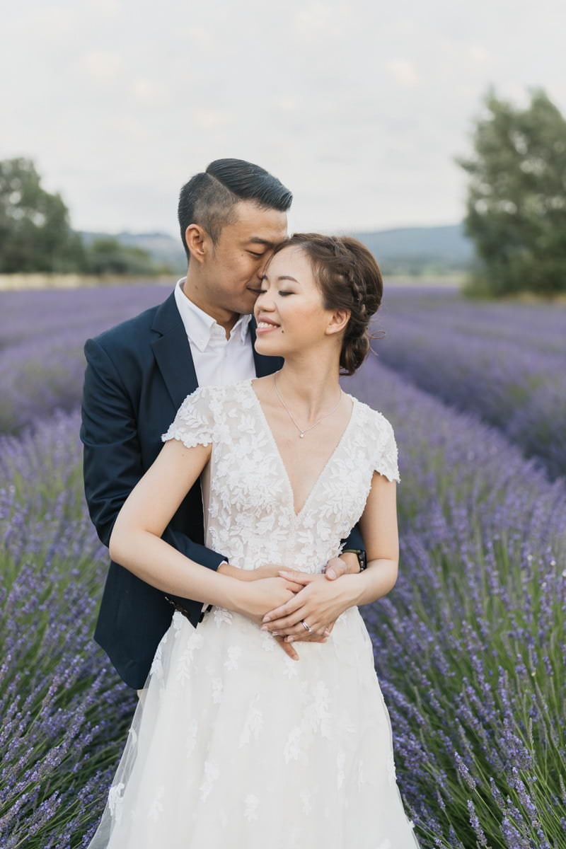 valensole lavender engagement photos